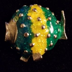 Jewelry - ENAMEL FISH BROOCH!!